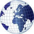 Globe with Grid Overlay