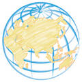 Globe hand drawn Illustration Royalty Free Stock Images