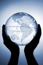 Globe in hands Royalty Free Stock Photo