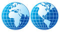 Globe icon globes showing earth with all continents world Royalty Free Stock Photography
