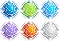 Globe Icon Set - spike Stock Image