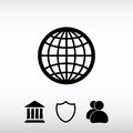 Globe Icon vector illustration. Flat design style