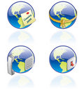 The Globe Icons Set - Design Elements 54a Royalty Free Stock Photo