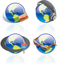 The Globe Icons Set - Design Elements 54b Royalty Free Stock Photo