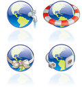 The Globe Icons Set - Design Elements 54c Royalty Free Stock Photos