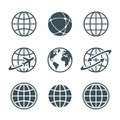 Globe icons set Royalty Free Stock Photo