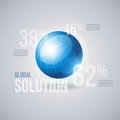 Globe infographic vector template elements are layered separately in vector file Stock Images