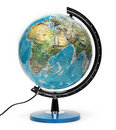 Globe isolated Royalty Free Stock Photos