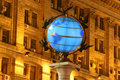 Globe in kiev maydan Royalty Free Stock Photography