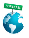 Globe for lease illustration design Royalty Free Stock Images