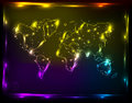 Globe light map Stock Photography