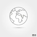 Globe Line Icon Royalty Free Stock Photo