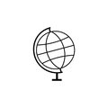 Globe line icon, school and education element