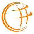 Globe logo Royalty Free Stock Photo