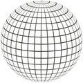 Globe Meridian and longitude Royalty Free Stock Photo