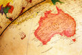 Globe part of lamp map with australia Royalty Free Stock Image