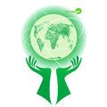 Globe, planet Earth. Earth Day, protect the environment day. World in our hands, help for nature. Environmental Royalty Free Stock Photo
