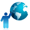 Globe presentation illustration icon design Stock Photo