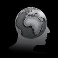 Globe profile Royalty Free Stock Photo