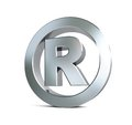 Globe registered trademark sign 3d Illustrations Royalty Free Stock Photo