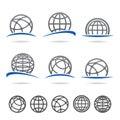 Globe set. Vector Royalty Free Stock Photo