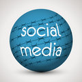 Globe social media Stock Images