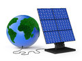 Globe solar panel and on white background Royalty Free Stock Photography