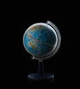 Globe sphere orb model effigy. vintage style world, global, education