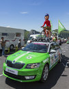 The Globe Trotter Skoda - Tour de France 2016 Royalty Free Stock Photo