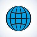 Globe. Vector drawing
