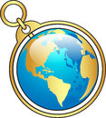 Globe vector illustration of like key chain Royalty Free Stock Photography