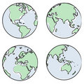 Globe views + vector file Stock Images