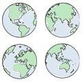 Globe views vector Royalty Free Stock Photo