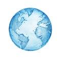 Globe water Royalty Free Stock Photo