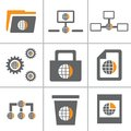 Globe Web Icon Set Part 3 Royalty Free Stock Photography