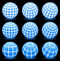 Globe wire frame symbols Royalty Free Stock Photos
