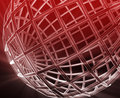 Globe wireframe abstract Stock Image