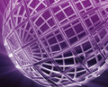 Globe wireframe abstract Royalty Free Stock Photos