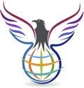Stock Photo Globel eagle logo