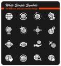 Globes icon set