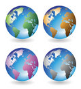 Globes multicolores Photographie stock libre de droits
