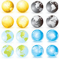 Globes set Stock Image