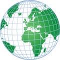 Globo con red Imágenes de archivo libres de regalías