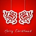 Glocken Appliquehintergrund des Weihnachten zwei Stockfotos