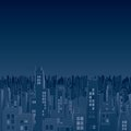 Gloomiest dark city vector image this is file of eps format Royalty Free Stock Photography