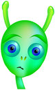 Gloomy alien young insecure sad teenage isolated vector on white background Stock Image
