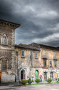 Gloomy alley a italian under a dark and stormy sky Royalty Free Stock Images