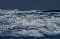 Gloomy sea stormy waves on the surface of the ocean Stock Photos