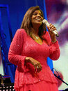 Gloria gaynor during her concert in the ancient amphiteatre of pula croatia Stock Photos