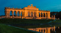 Vienna Gloriette Schoenbrunn Night Royalty Free Stock Photo
